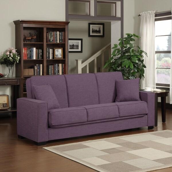 Shop Portfolio Mali Convert A Couch Amethyst Purple Linen