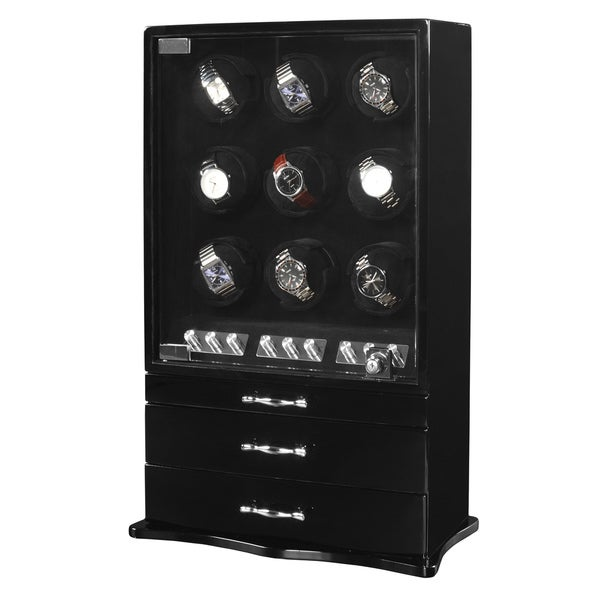 Exquisite 17-watch Winder/ Display Case