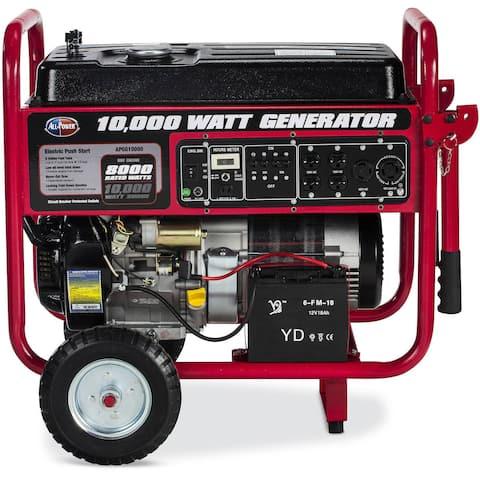 10000-watt Max 420cc Electric Push Start Generator with Battery