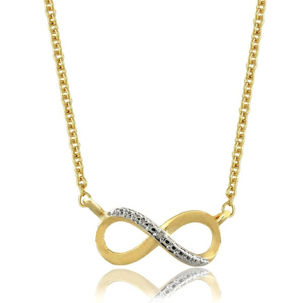 Finesque 18k Gold Overlay Diamond Accent Infinity Necklace