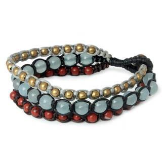 Handmade Brass 'Urban Colors' Jasper Quartz Bracelet (Thailand)