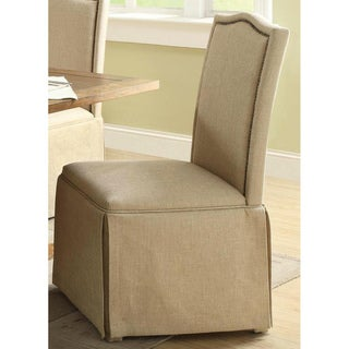 Jonquil Nail Head Skirted Dinning Chairs (Set of 2)