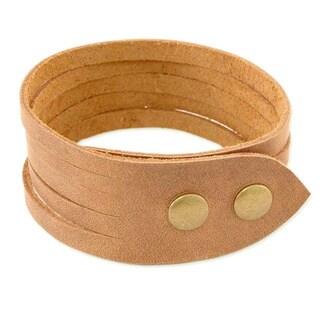 Men's Handmade Leather 'Equestrian' Bracelet (Mexico)