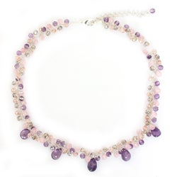 Amethyst and Quartz 'Lavish Lilac Lanna' Necklace (Thailand)
