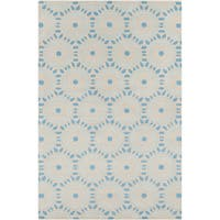 Hand-tufted Allie Geometric Blue Wool Rug - 5' x 7'6