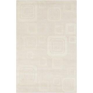 Hand-tufted Allie Geometric Beige Wool Rug (5' x 7'6)