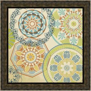 Spirographics Square I' Framed Print