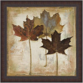 Patricia Pinto 'Natural Leaves III' Framed Print