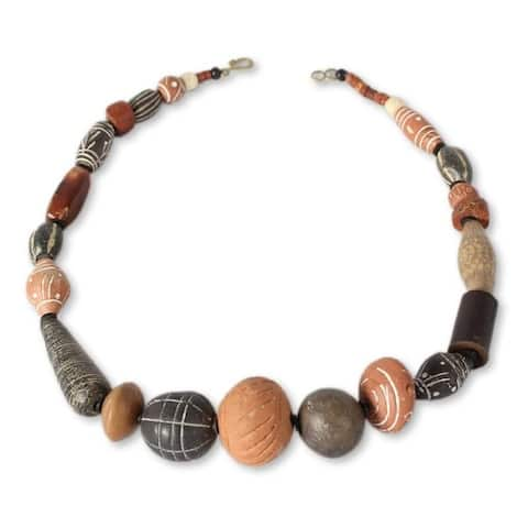 Handmade Africa Medley and Agate Necklace (Ghana)