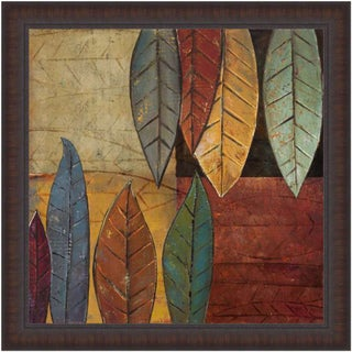 Patricia Pinto 'Tall Leaves Square II' Framed Print