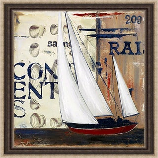 Patricia Pinto 'Blue Sailing Race II' Framed Print
