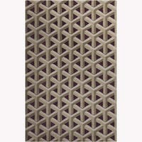 Allie Handmade Geometric Purple Wool Rug