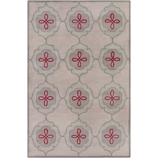 Hand-tufted Allie Abstract Grey Wool Rug (5' x 7'6)