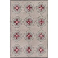 Hand-tufted Allie Abstract Grey Wool Rug (5' x 7'6) - 5' x 7'6