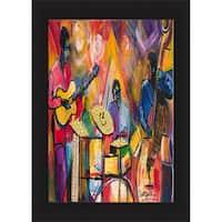 Everett Spruill 'Jazz Trio' Framed Print - Pink