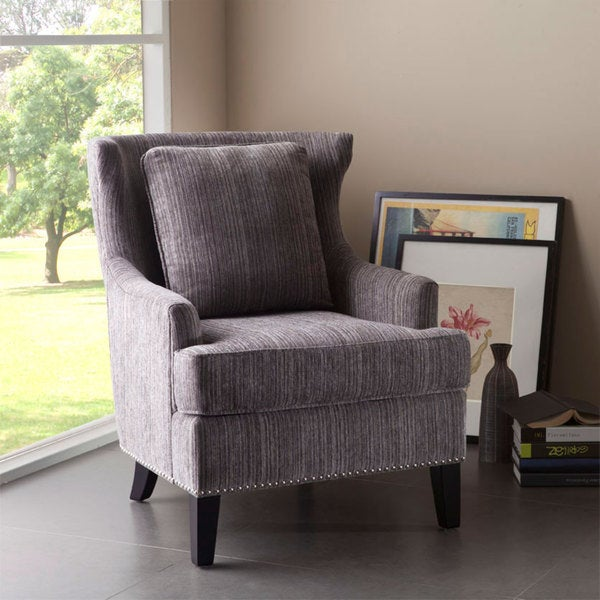 Shop Sierra Grey Multi High Back Chair Free Shipping