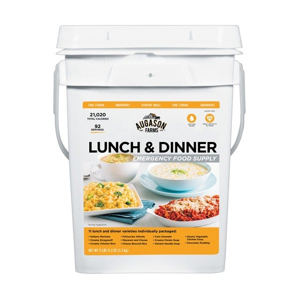 Augason Farms Lunch and Dinner Emergency Food Supply Pail