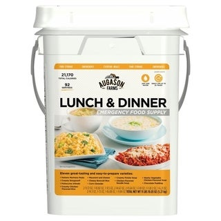 Augason Farms Lunch & Dinner Emergency Food Supply 11 lbs 11. 2 oz 4 Gallon Pail