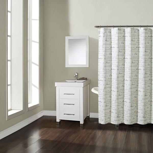 Shop French Script Shower Curtain