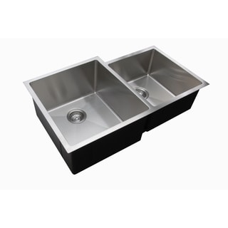 Ukinox RS420.60.40.10L 60/40 Double Basin Stainless Steel Undermount Kitchen Sink