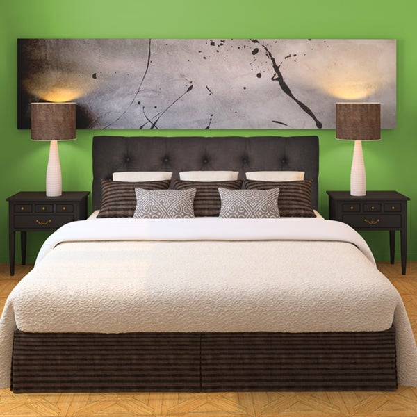Klein Chocolate Diamond-tufted Upholstered Headboard. Opens flyout.