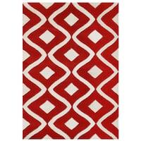 Hand Tufted Tatum Red And Orange Wool Rug 7 9 X 9 9