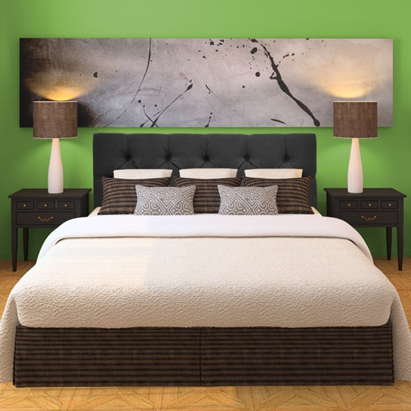 Shop Klein Dark Grey Diamond Tufted Upholstered Headboard