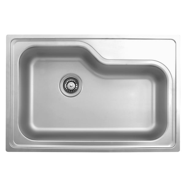 stainless steel kitchen sinks reviews shop ukinox dxt840 single basin stainless steel drop in 8277