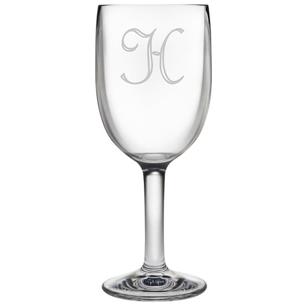 Personalized Acrylic Wine Glasses (Set of 4)