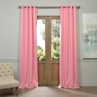 Exclusive Fabrics Precious Pink Grommet Blackout Thermal Curtain Panel Pair