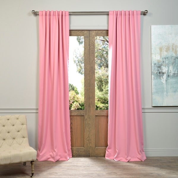 Exclusive Fabrics Precious Pink Blackout Thermal Curtain Panel (Set of 2)