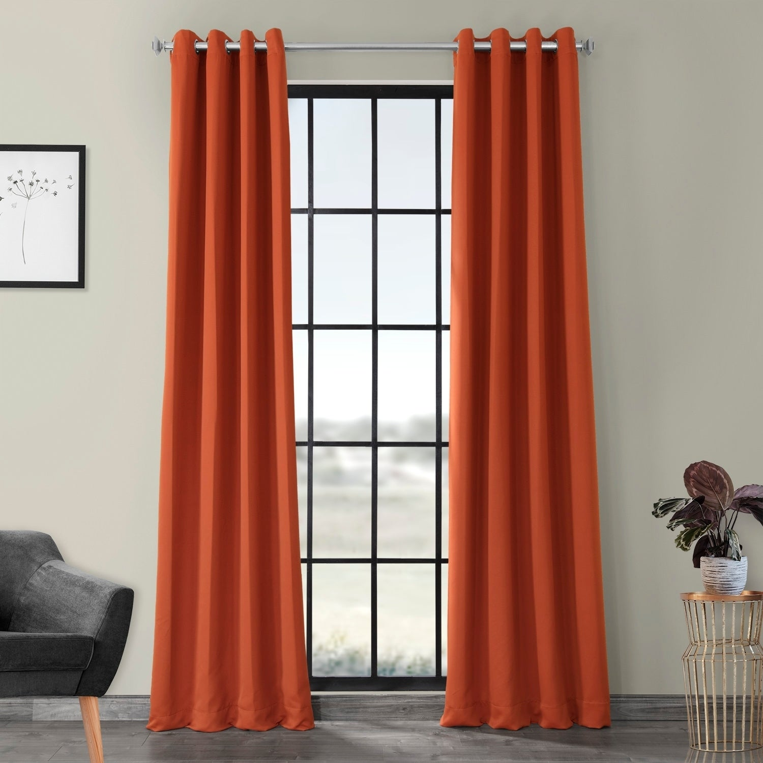 Exclusive Fabrics Blaze Grommet Blackout Thermal Curtain ...