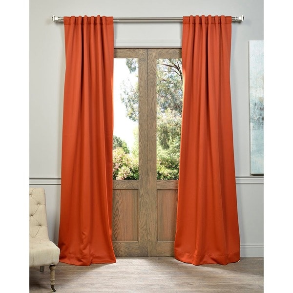 Exclusive Fabrics Blaze Blackout Thermal Curtain Panel Pair