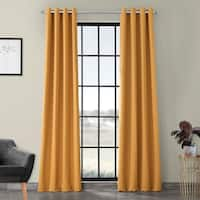 Exclusive Fabrics Marigold Grommet Blackout Thermal Curtain Panel Pair