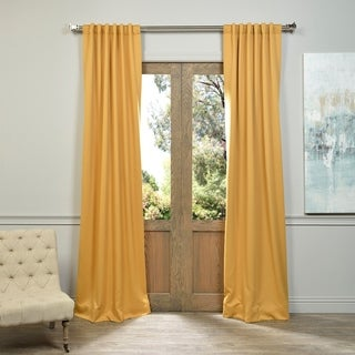 Exclusive Fabrics Marigold Blackout Curtain Thermal Panel Pair
