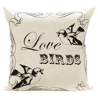 Love Birds Cotton Decorative Pillow