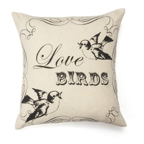 Love Birds Cotton Decorative Pillow