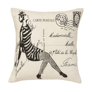 Cottage Home French Mademoiselle Cotton 20 Inch Throw Pillow (Decorative Pillow)