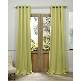 Exclusive Fabrics Grommet Blackout Thermal Lichen Curtain Panel Pair