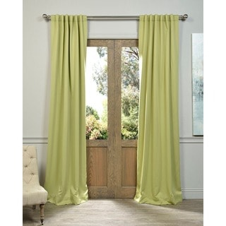Exclusive Fabrics Blackout Thermal Lichen Green Curtain Panels (Set of 2)