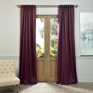 Exclusive Fabrics Blackout Thermal Aubergine Curtain Panel Pair