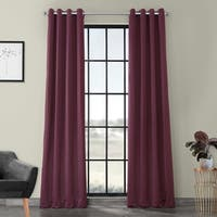 Exclusive Fabrics Grommet Blackout Thermal Aubergine Curtain Panels (Set of 2)