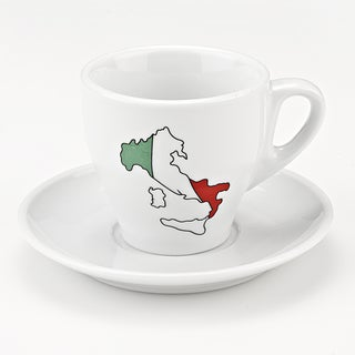 Boot of Italy 8-piece Porcelain Mug and Saucer Set