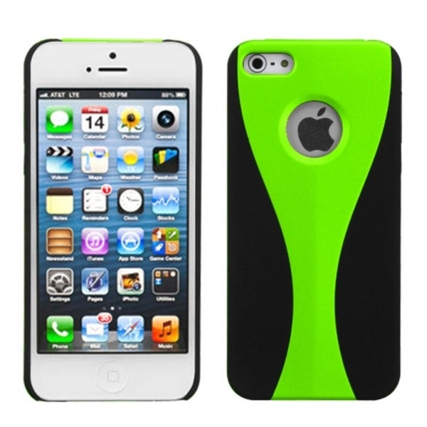 INSTEN Back Wave/ Green Phone Case for Apple iPhone 5/ 5S/ SE