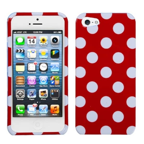 BasAcc White Polka Dots/ Red Hard Case for iPhone 5