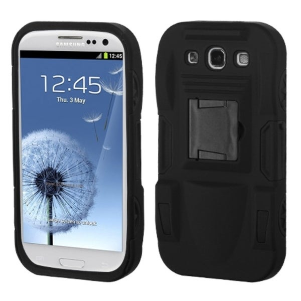 BasAcc Black Advanced Armor Stand Case for Samsung Galaxy S3/ III