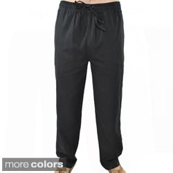 Handmade Men's Hemp and Cotton Lounge Pants (Nepal)