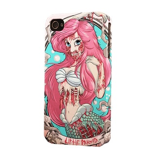 Little Mermaid Zombie Dimensional Apple iPhone Plastic Cell Phone Case