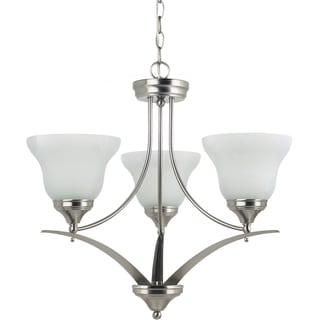 'Brockton' Brushed Nickel 3-Light Single Tier Chandelier