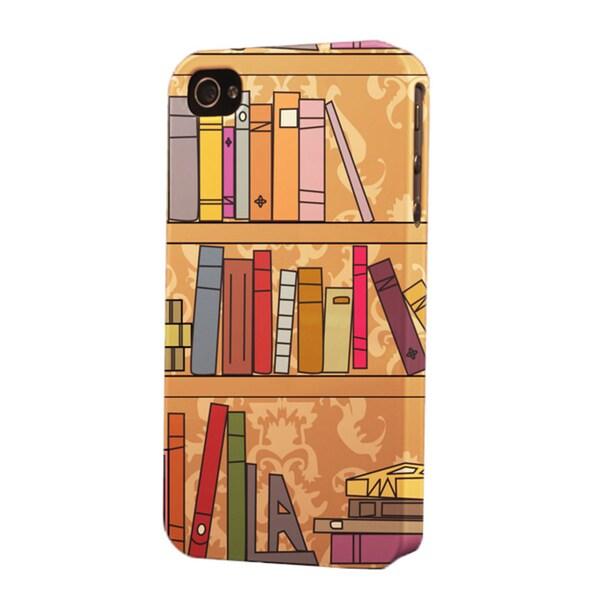 Plastic Bookshelf Dimensional Apple IPhone Case